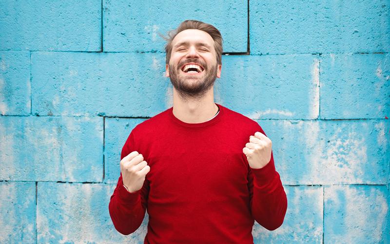 man, smiling, balance, Darlene Sand Wall DMD, dentistry
