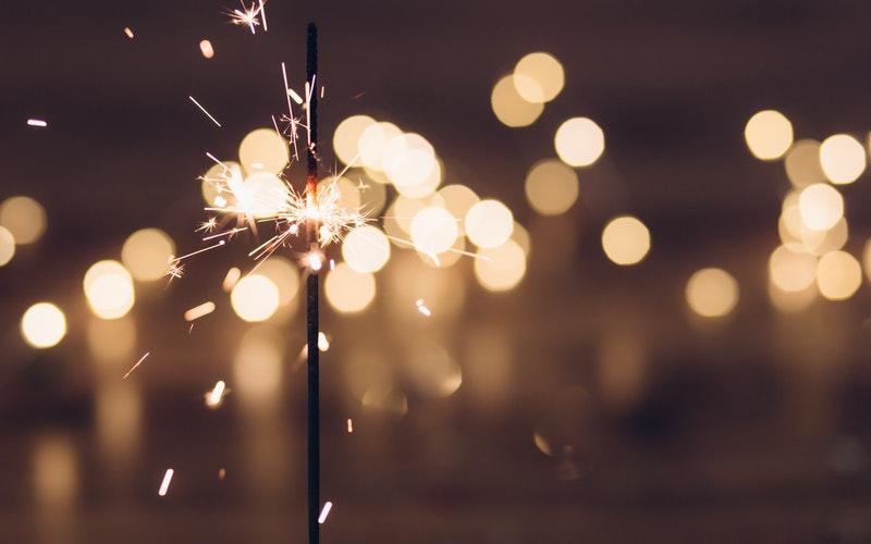 sparkler, new year, Darlene Sand Wall DMD, dentistry